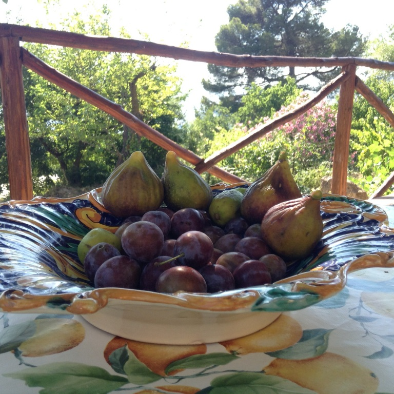 Näitä sai Ageiturismo Cucassa keraillä puutarhasta suoraan puista niin paljon kuin jaksoi syödä. Oikeat viikunat on taivaallisia!